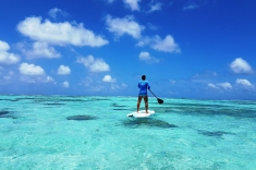 Maldives paddleboarding