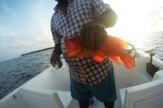Maldives sunset fishing