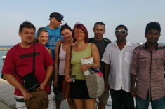 Maldives guest house - happy guests