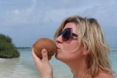 Eva Kalman and coconut