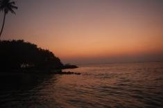 Maldives, Huraa, sunset