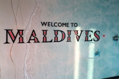 Maldives welcome board