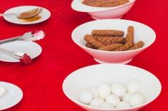 Maldives guest house - breakfast