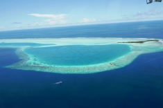 Maldives vacation - seaplane view