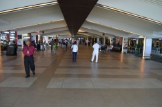 The airport hall