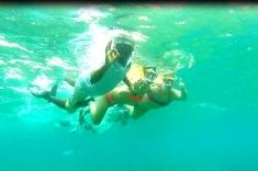 Eva Kalman snorkeling