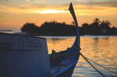 Maldives vacation - Huraa island sunset