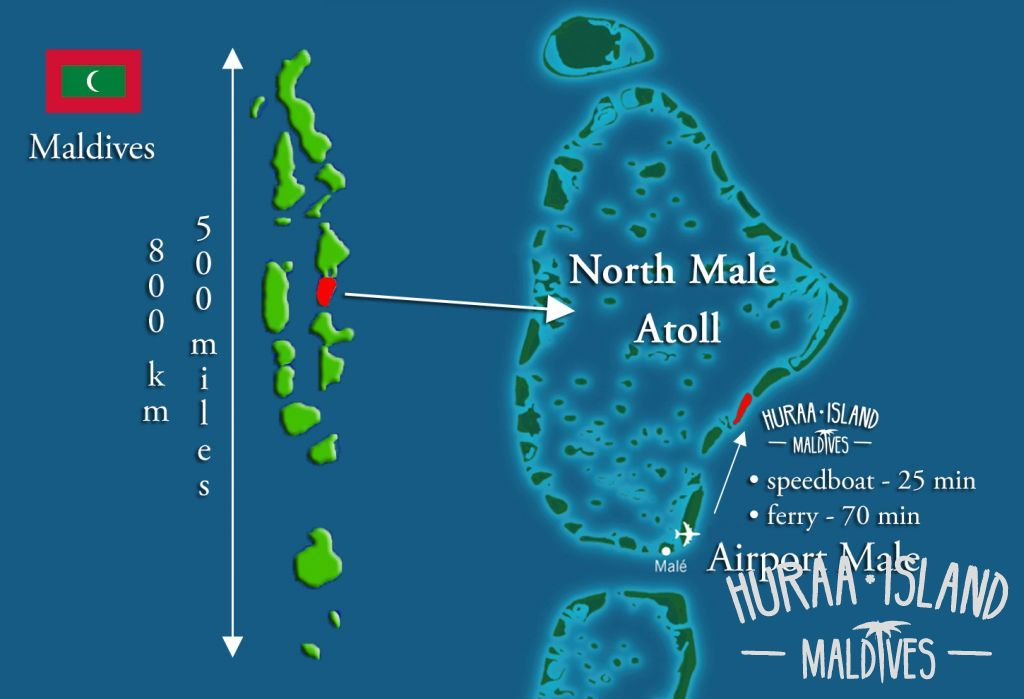 Maldives Map North Atol Male