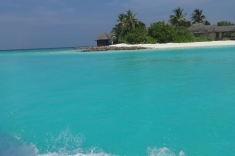 Small island of Maldives