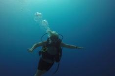 Underwater smile
