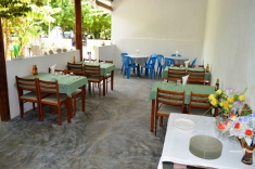 Maldives guest house - restaurant