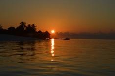 sunset maldives 1